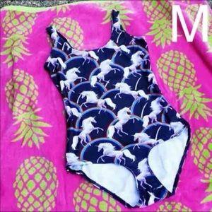 Other - New! Cute Unicorn One-Piece Bathing Suit Medium